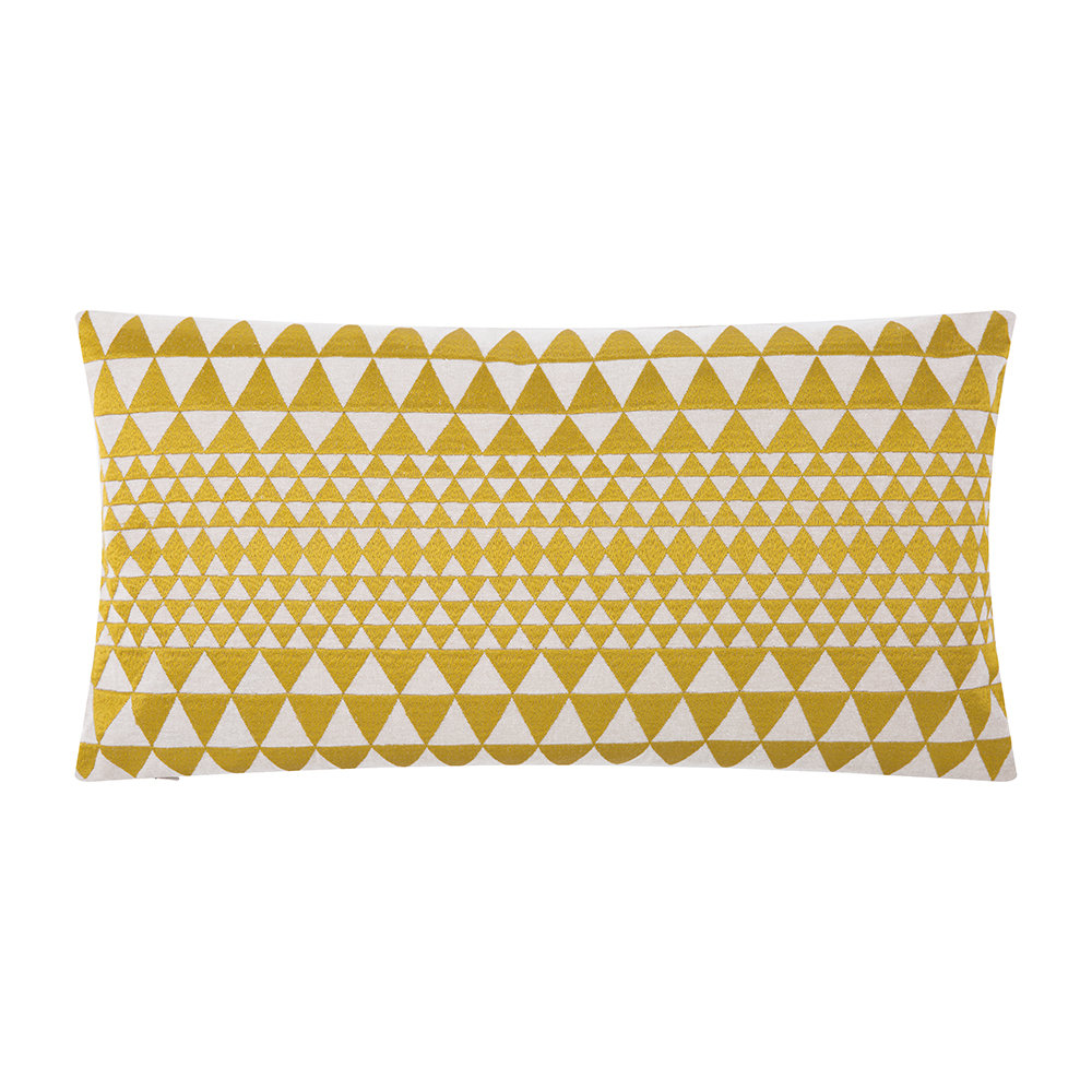 Niki Jones  Isosceles Pillow  Chartreuse  30x50cm