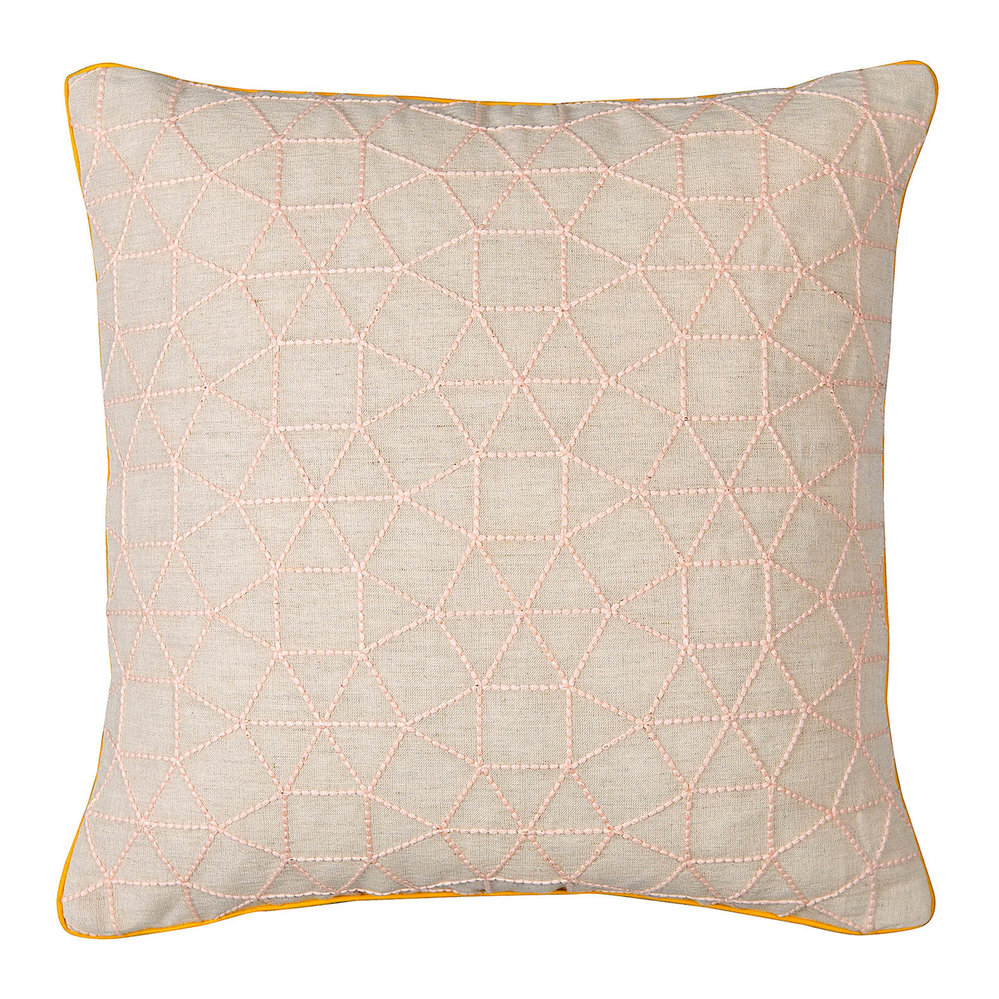 Niki Jones  Pentagonal Pillow  Pink  43x43cm