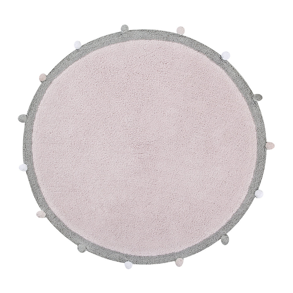 Lorena Canals - Bubbly Round Washable Rug - 120cm - Soft Pink