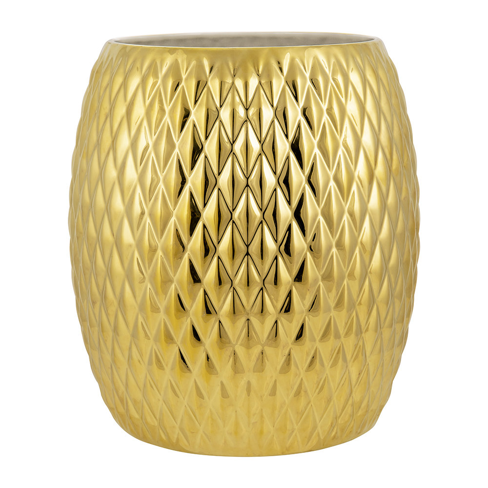 Villari - Black Tie Waste Basket - Gold