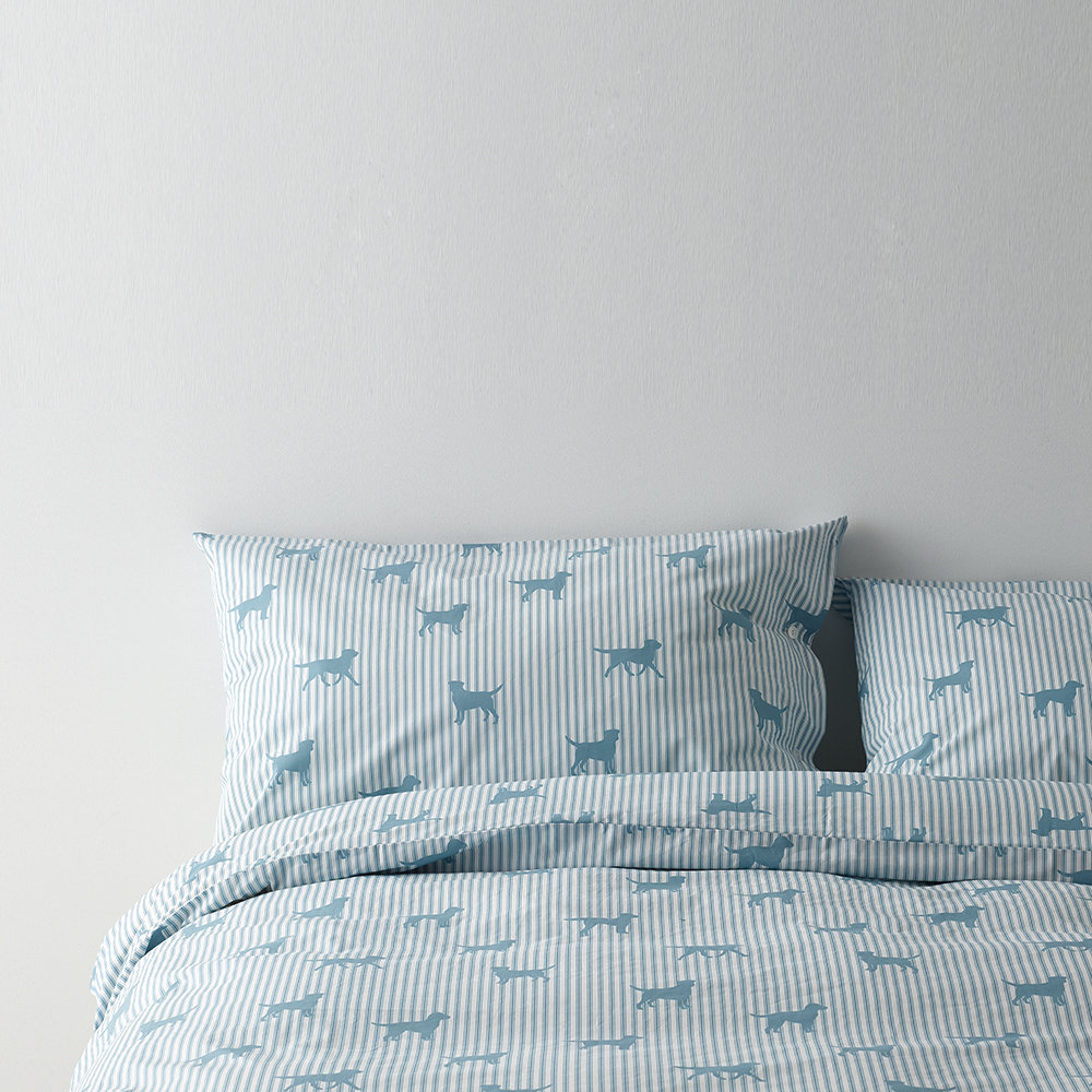 Emily Bond - Labrador Blue Quilt Set - Double