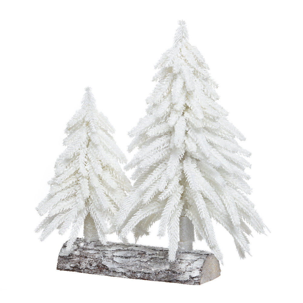 Buy A by Amara Glitter Ice Ornamental Christmas Trees - Winter White ...