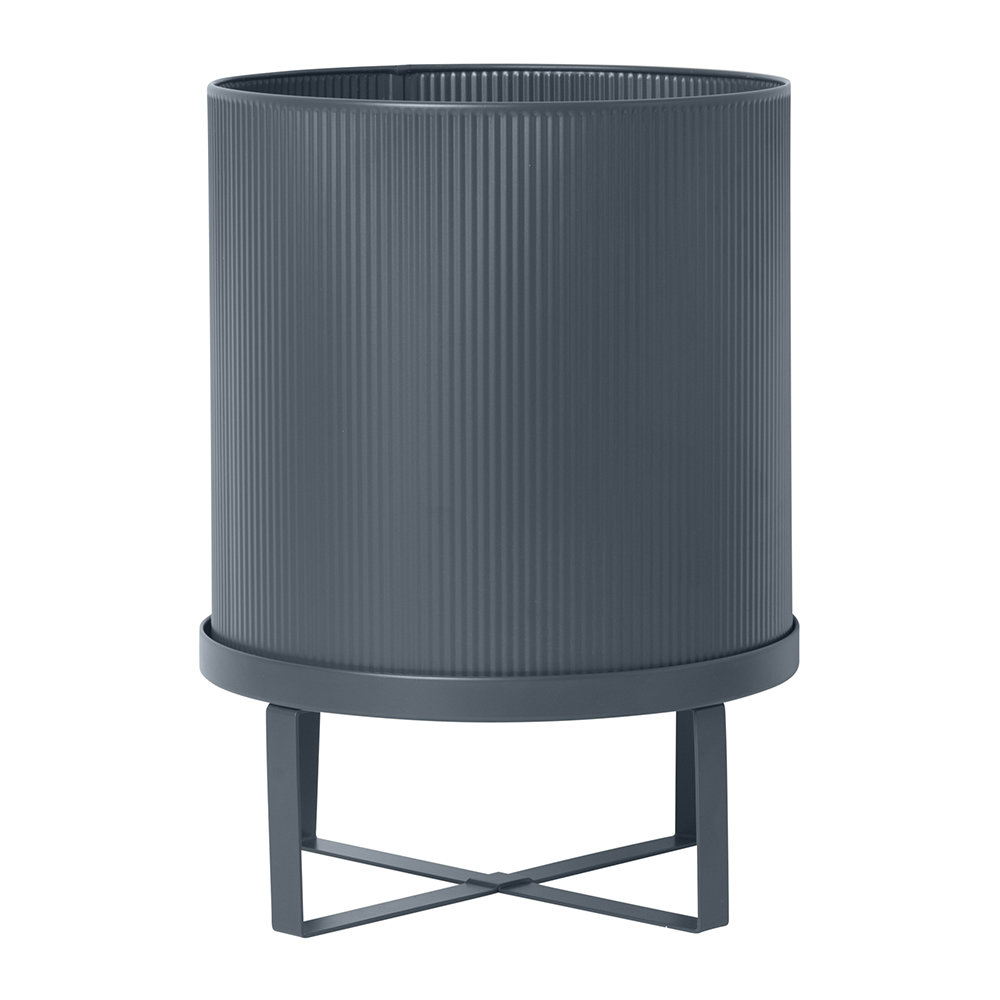 Ferm Living - Bau Plant Pot - Dark Blue - Large
