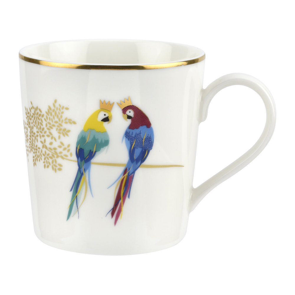 Sara Miller - Piccadilly Collection Becher - Posing Parrots