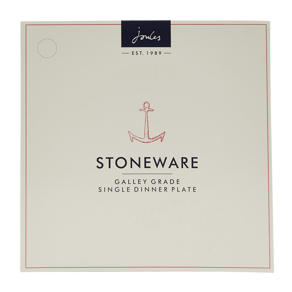 Joules  Galley Grade   Stoneware Hand Finished Dinner Plate in  in One Size