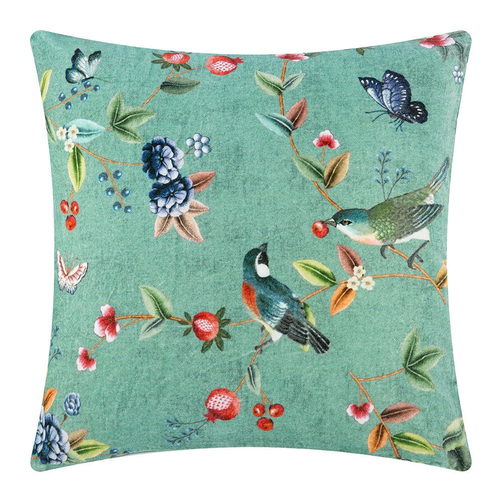 Pip Studio - Birdy Cushion - 60x60cm - Green