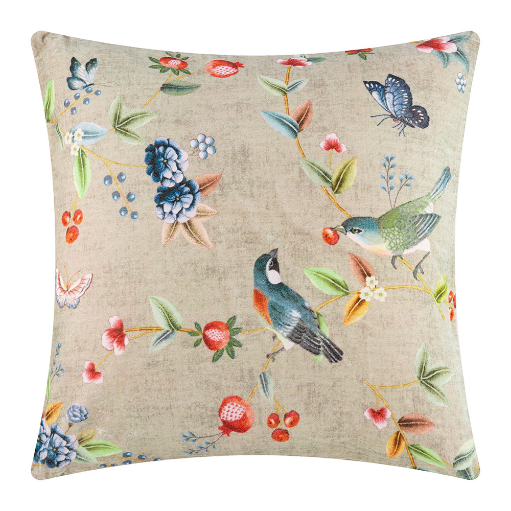 Pip Studio - Birdy Cushion - 60x60cm - Khaki