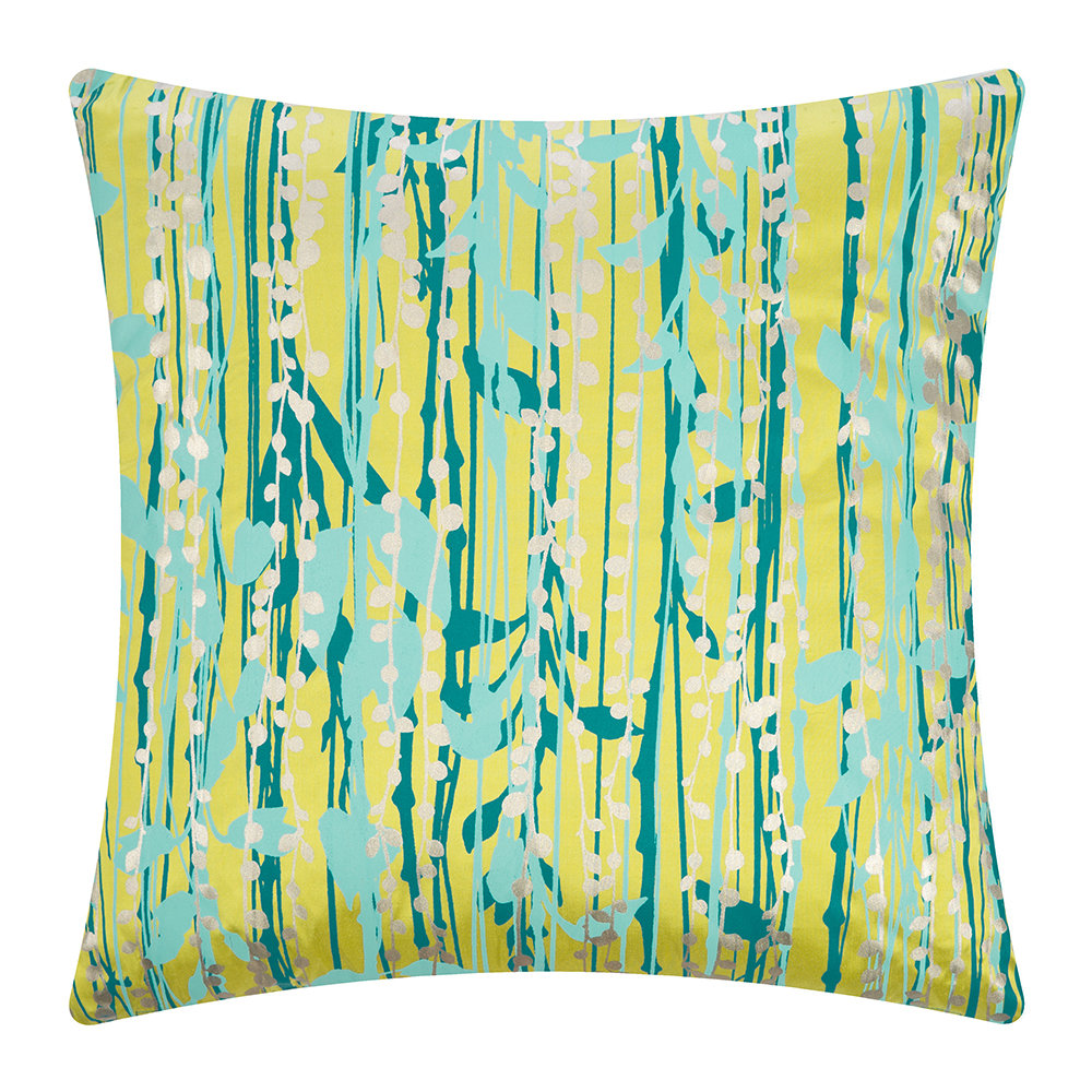 Clarissa Hulse - St Lucia Cushion - 45x45cm - Quince/Kingfisher/Duck Egg/Pewter