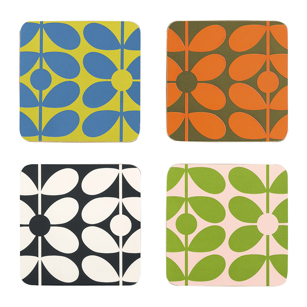 Orla Kiely - 60s Stem Coasters - Set of 4
