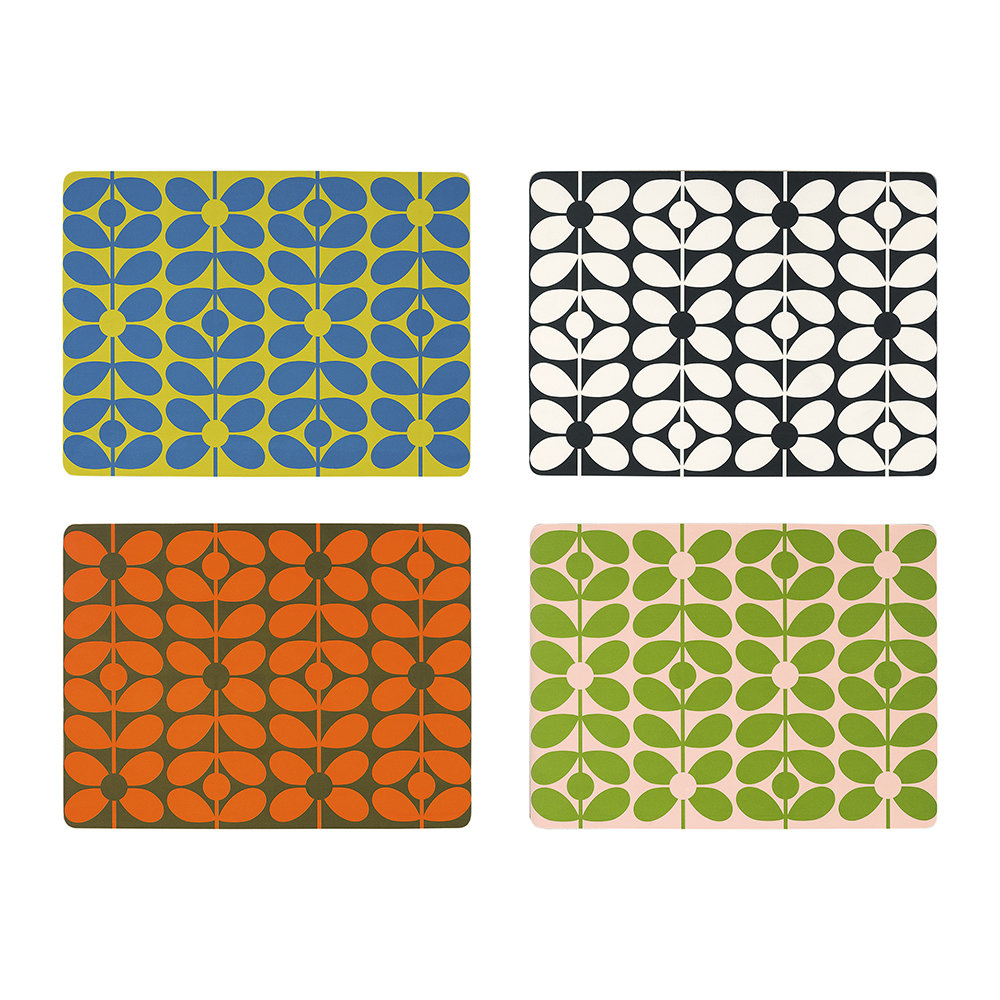 Orla Kiely - 60s Stem Placemats - Set of 4