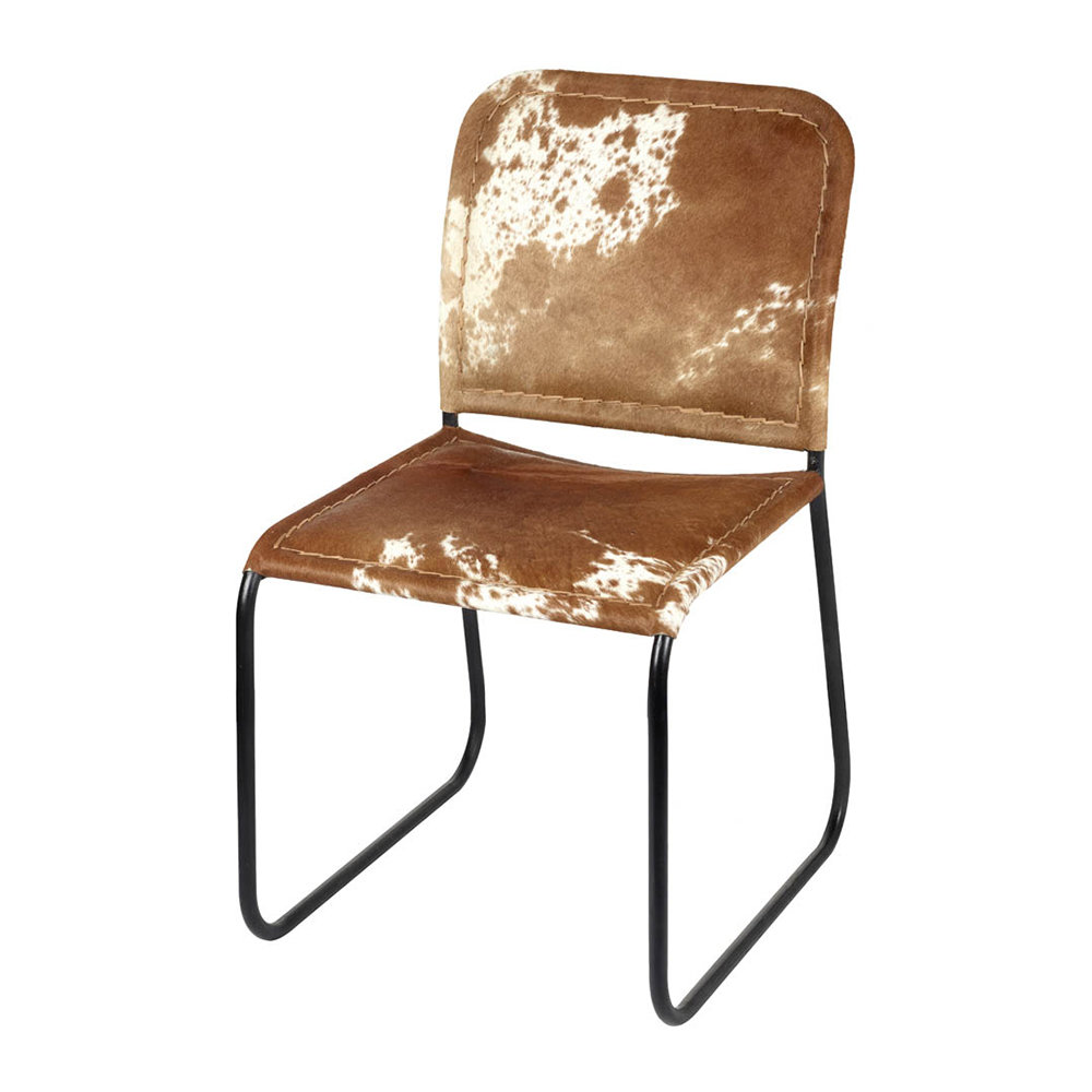 Magnificent Cowhide Chair Brown White Squirreltailoven Fun Painted Chair Ideas Images Squirreltailovenorg