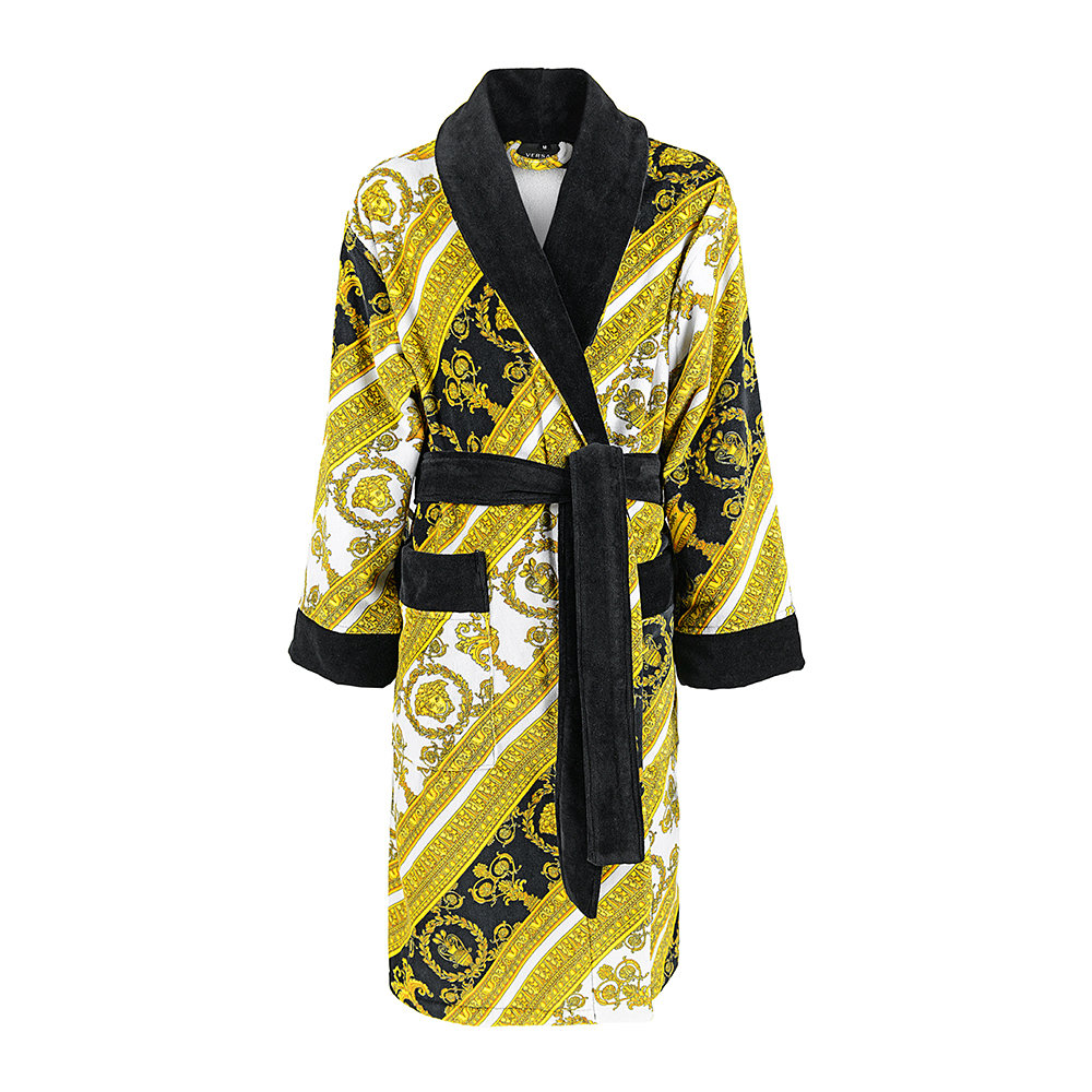 Versace Home - I Love Baroque Bathrobe - White/Gold/Black
