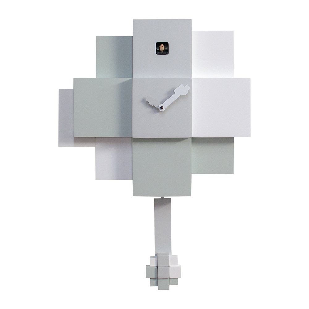 Progetti - Choco Wall Clock - White  Grey