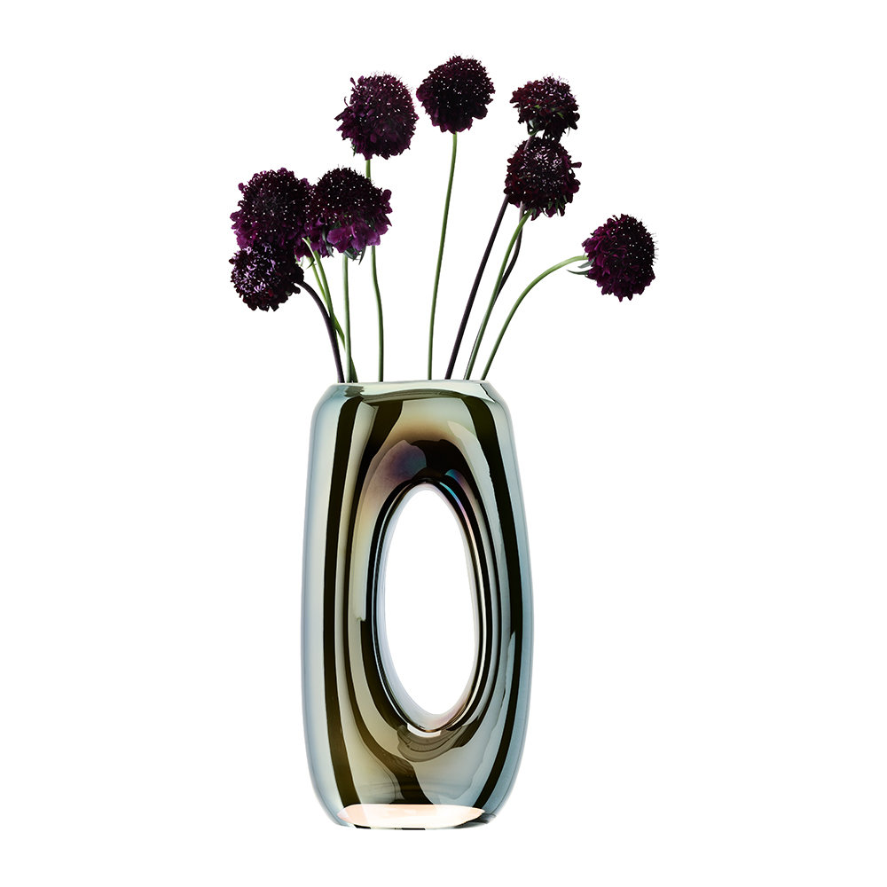 LSA International - Eclipse Hollow Vase - Mercury - 32cm