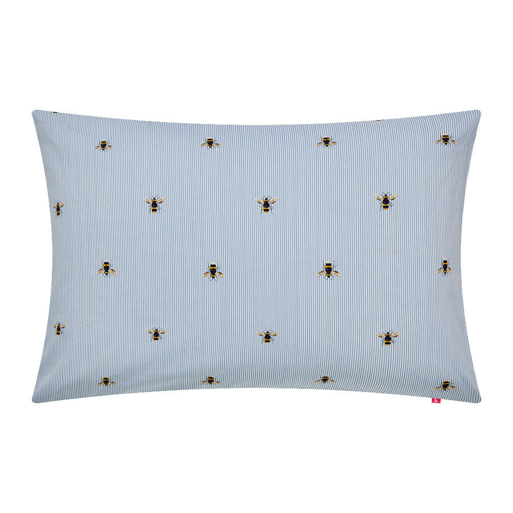 Joules - Chinese Floral Pillowcase - Frozen Blue