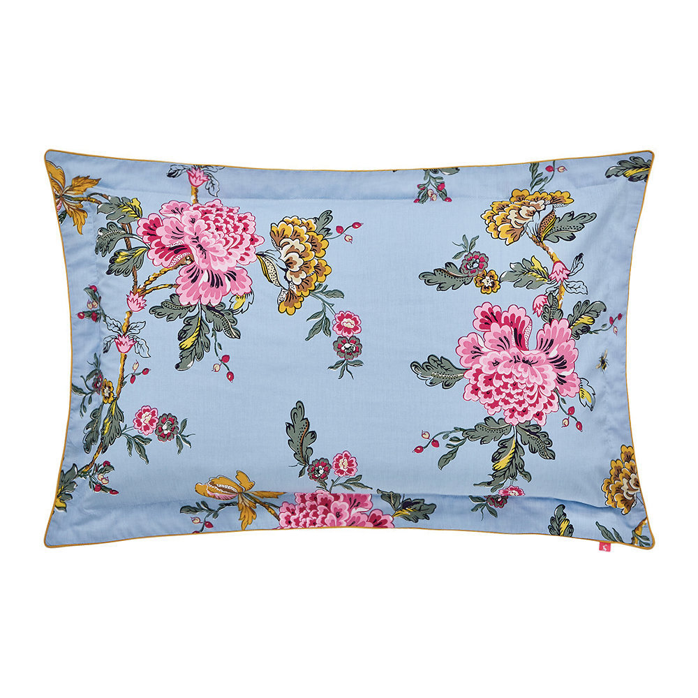 Joules - Chinoise Floral Oxford Pillowcase - Blue