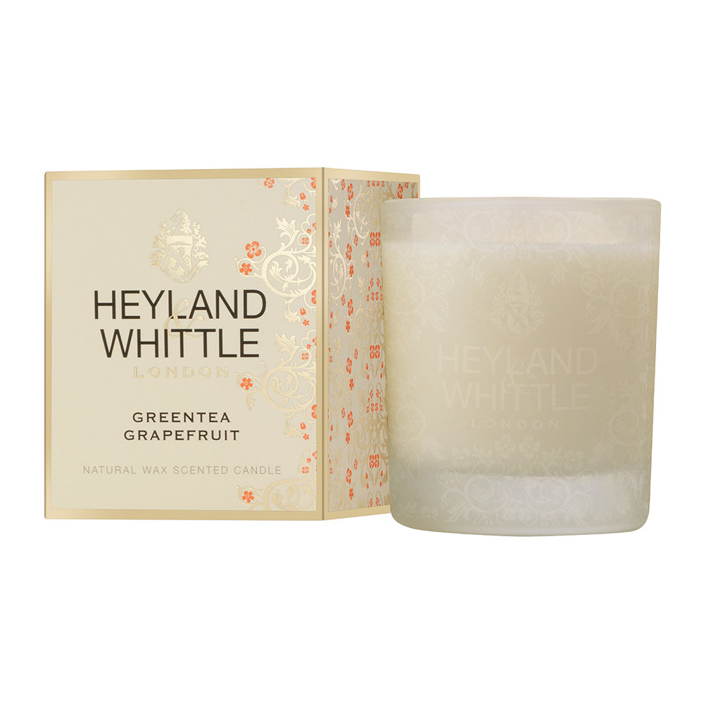 Heyland  Whittle - Gold Classic Scented Candle - 230g - Greentea Grapefruit