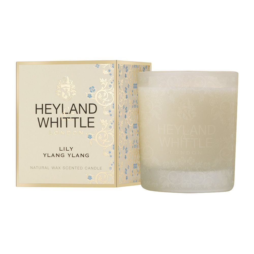 Heyland  Whittle - Gold Classic Scented Candle - 230g - Lily Ylang Ylang