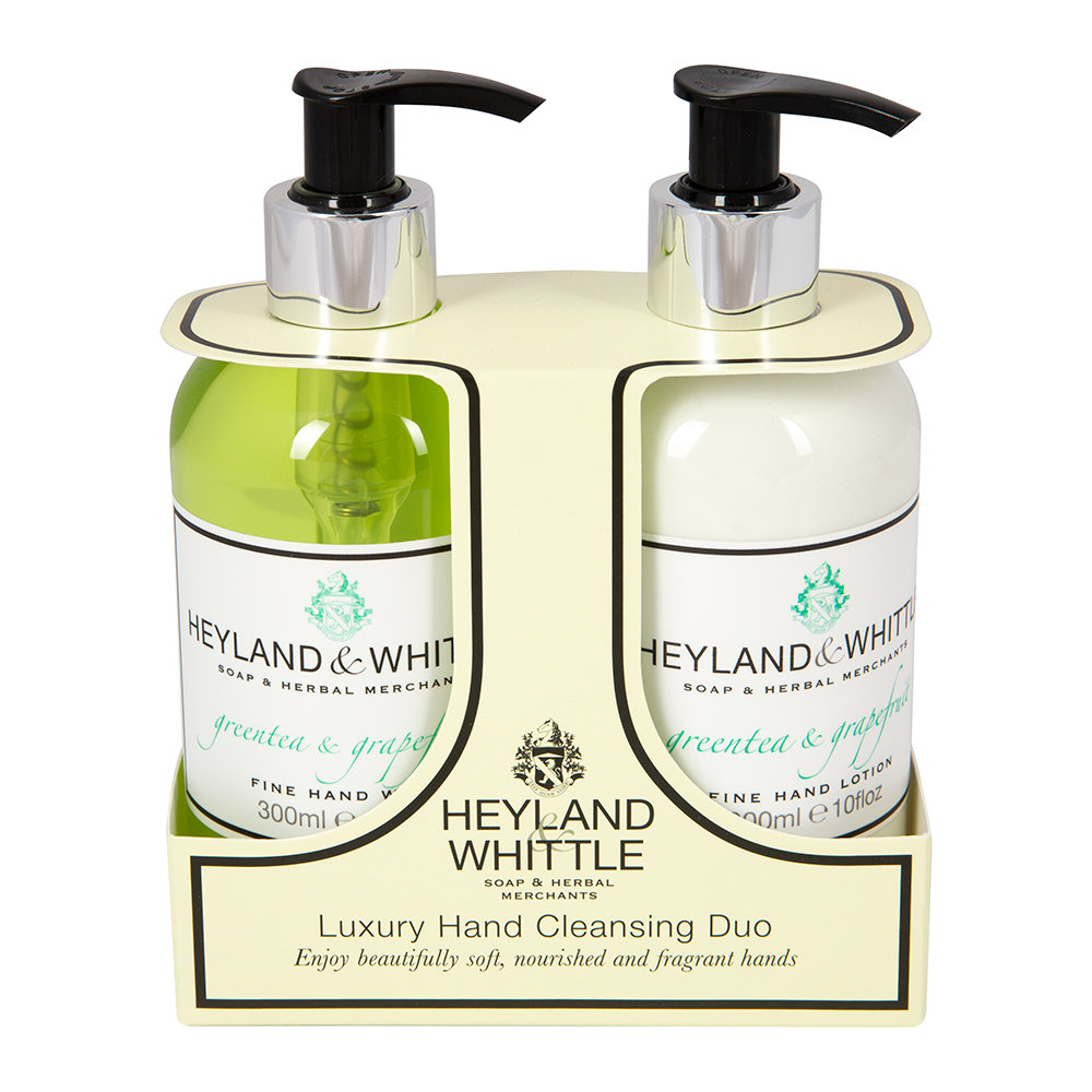Heyland  Whittle - Greentea  Grapefruit Liquid Soap  Hand Cream Set