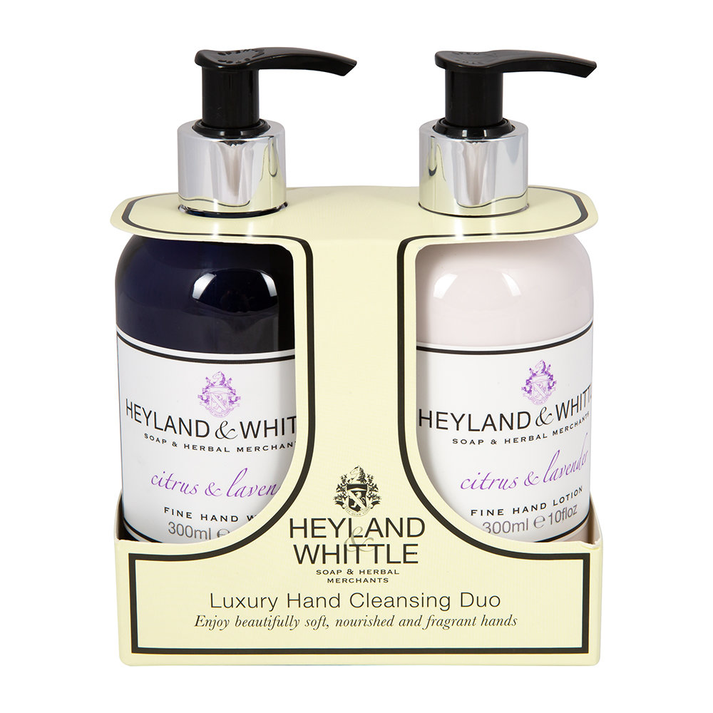 Heyland  Whittle - Citrus  Lavender Liquid Soap  Hand Cream Set