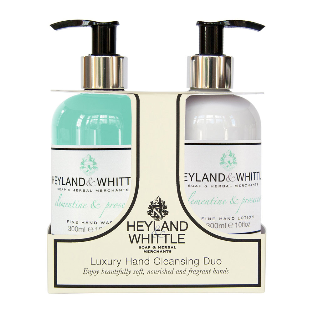 Heyland  Whittle - Clementine  Prosecco Liquid Soap  Hand Cream Set