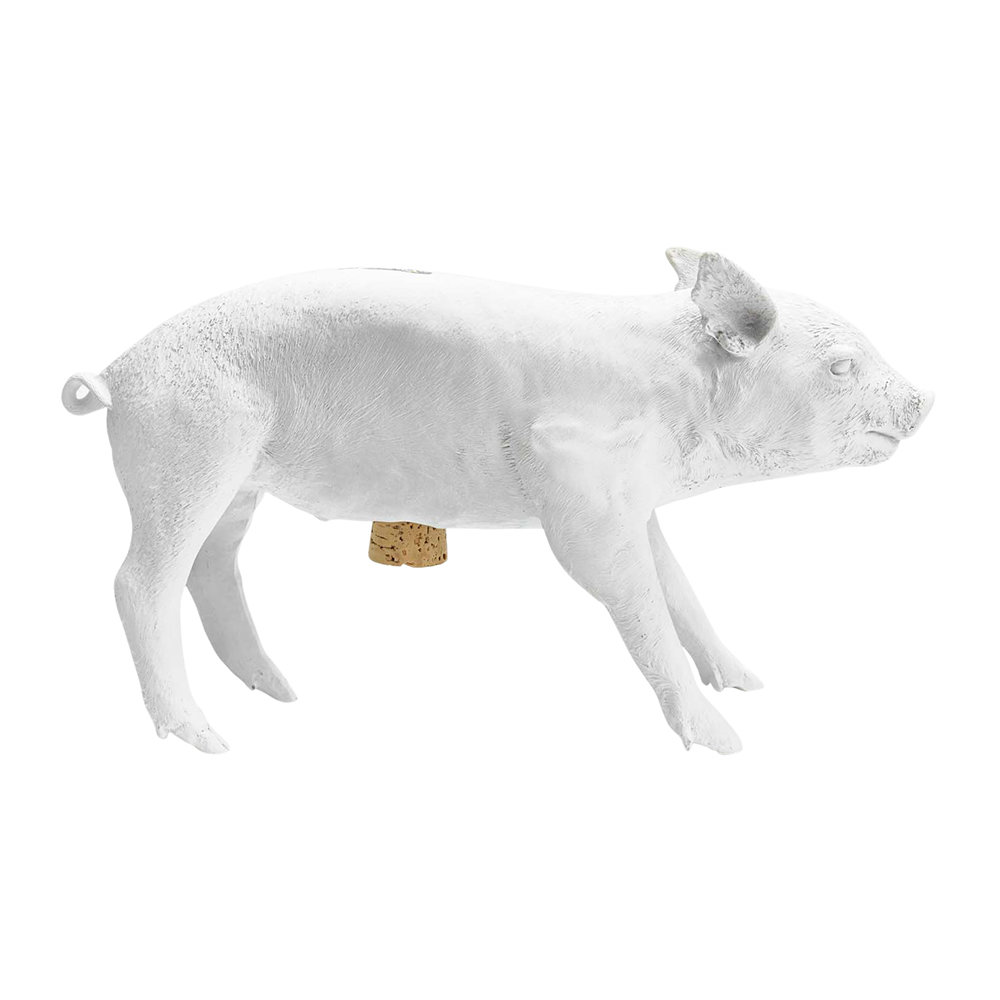 Areaware - Reality Collection Bank in the Form of a Pig Money Bank - White