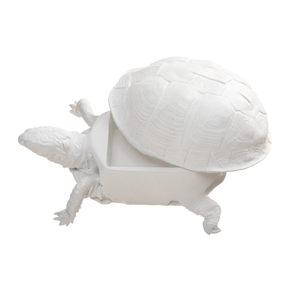 Areaware - Turtle Trinket Box - White