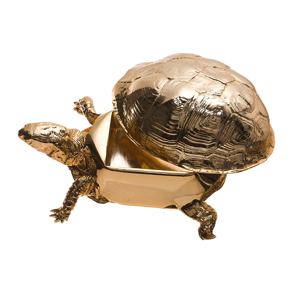 Areaware - Turtle Trinket Box - Gold
