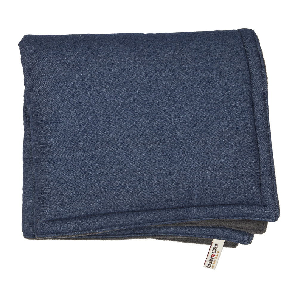 Creature Clothes - Denim Blue Padded Cat Blanket