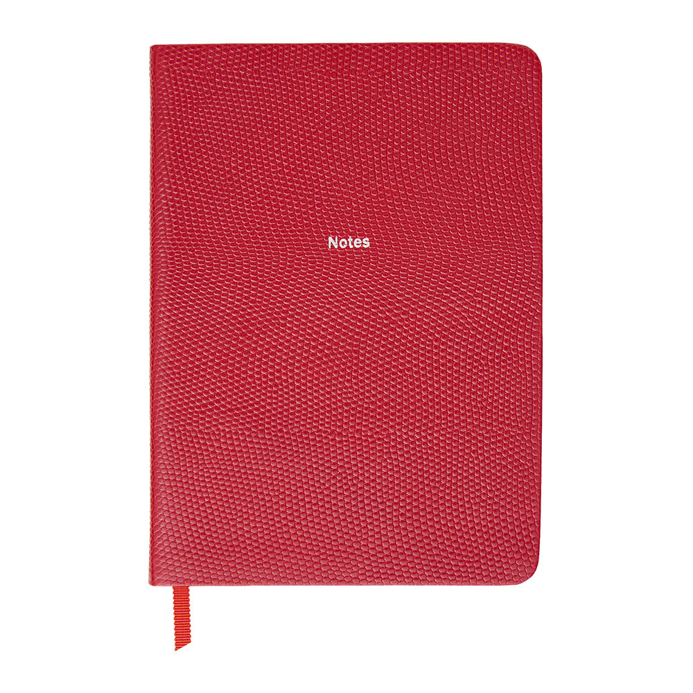 Organise-Us - 'Notes' Medium Leather Notebook - Cherry Red
