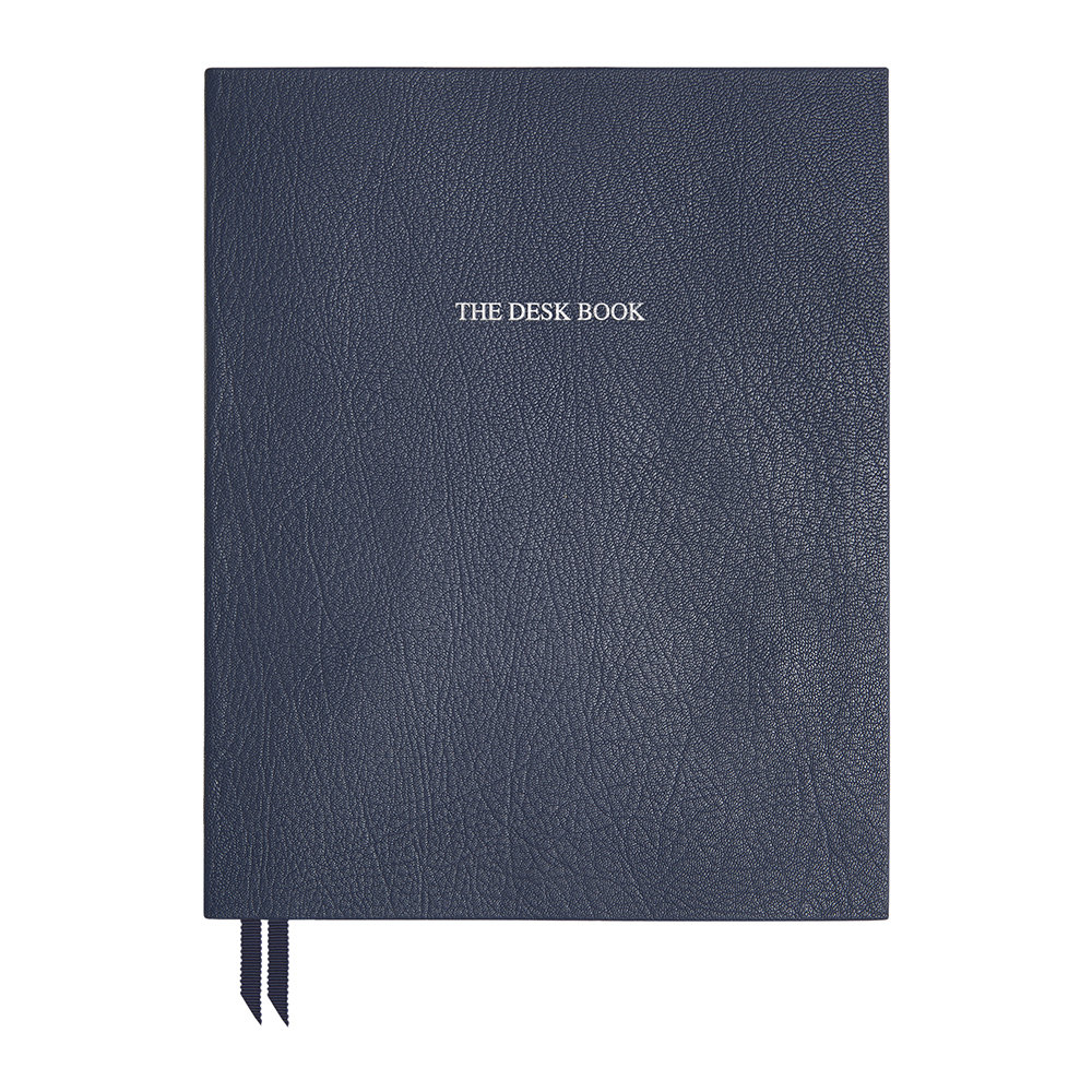 Organise-Us - 'The Desk Book' Leather Notebook - Navy