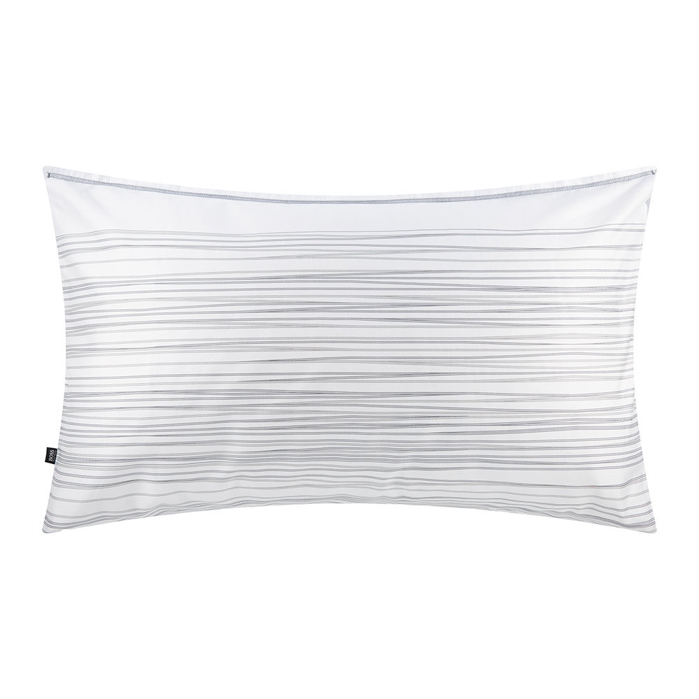 Hugo Boss - Bridges Pillowcase - Grey - 50x75cm