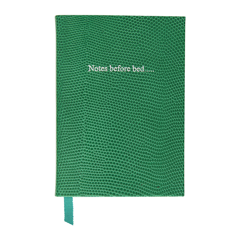 Organise-Us - 'Notes Before Bed' Small Leather Notebook - Emerald Green
