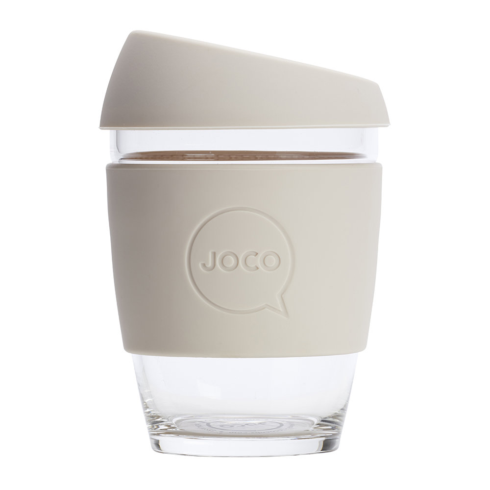 Joco - Reusable Glass Travel Cup - 340ml - Sandstone