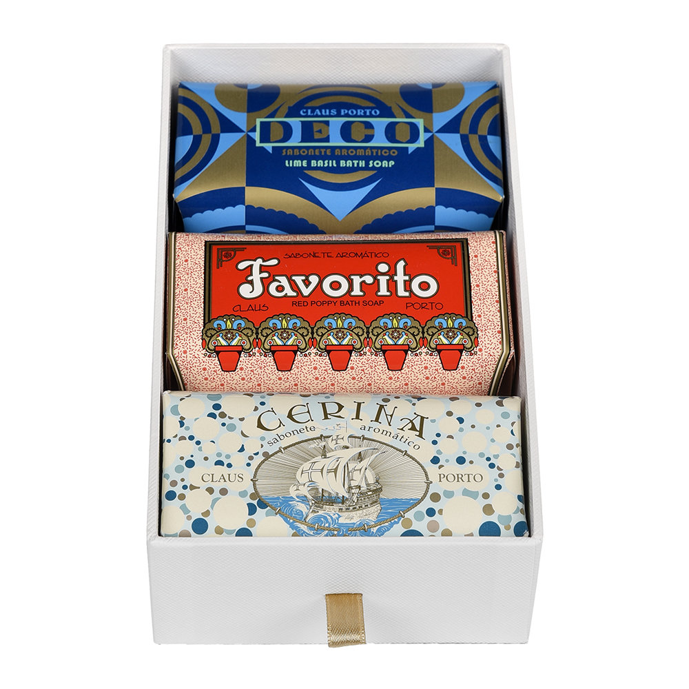 Claus Porto - Deco Collection Gift Box - Set of 3 Soaps - Deco/Favorito/Cerina
