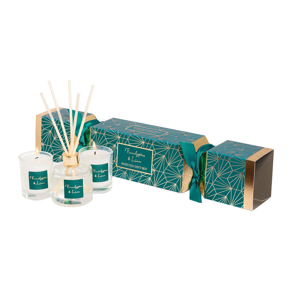 Stoneglow - Eucalyptus  Lime Christmas Cracker Gift Set