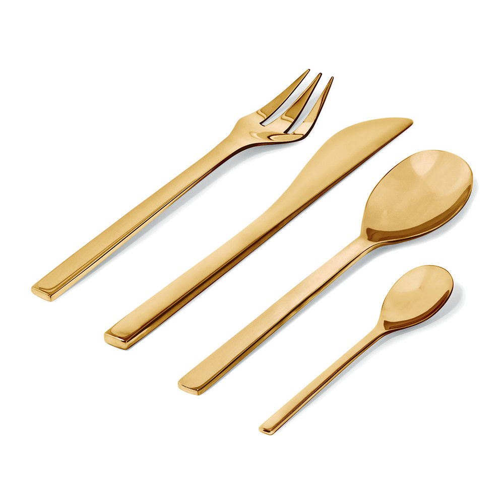 Alessi - Colombina Cutlery Set - Brass - 24 Piece