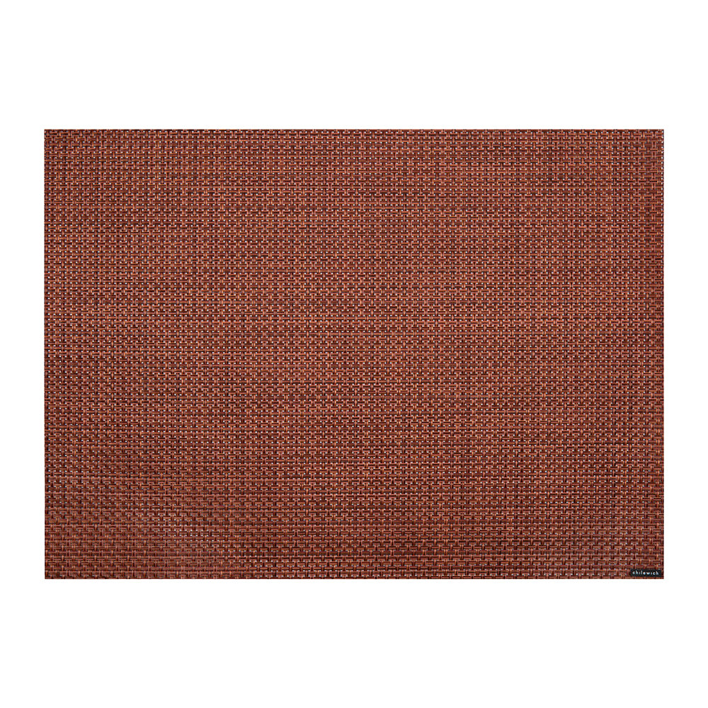 Chilewich - Basketweave Rectangle Placemat - Pomegranate