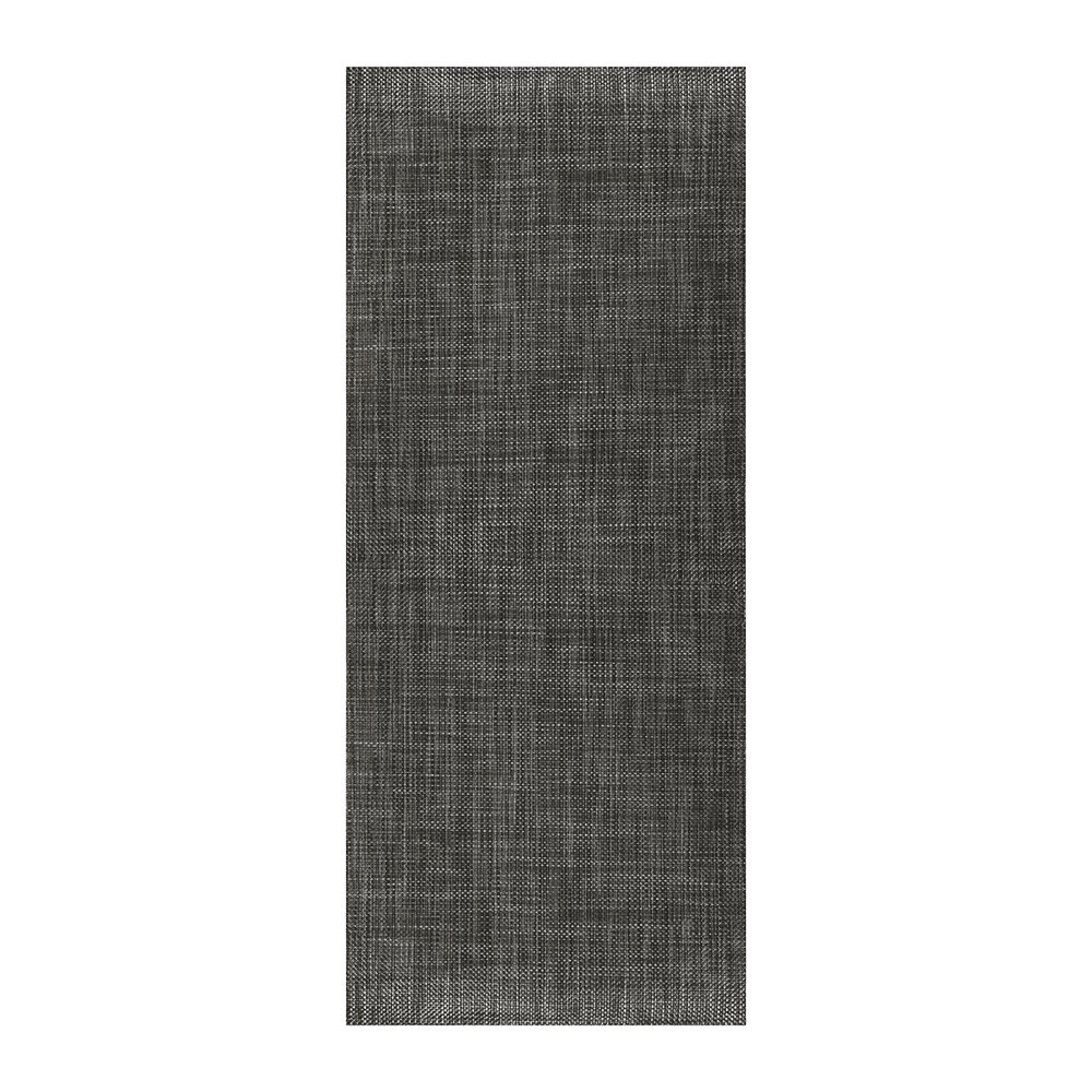 Chilewich - Tapis Long Natté - Carbone - 66x183cm