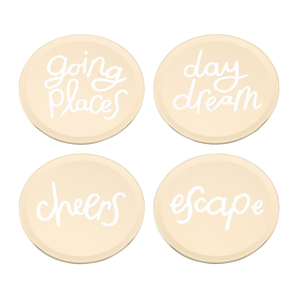 kate spade new york - All That Glistens Coasters - Set of 4