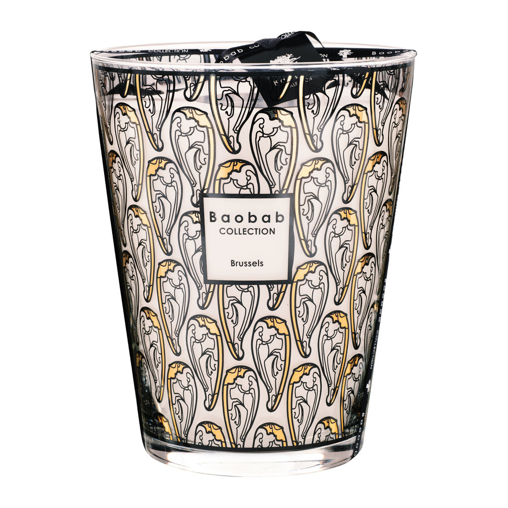 Baobab Collection - Brussels Art Nouveau Scented Candle - Limited Edition - 24cm