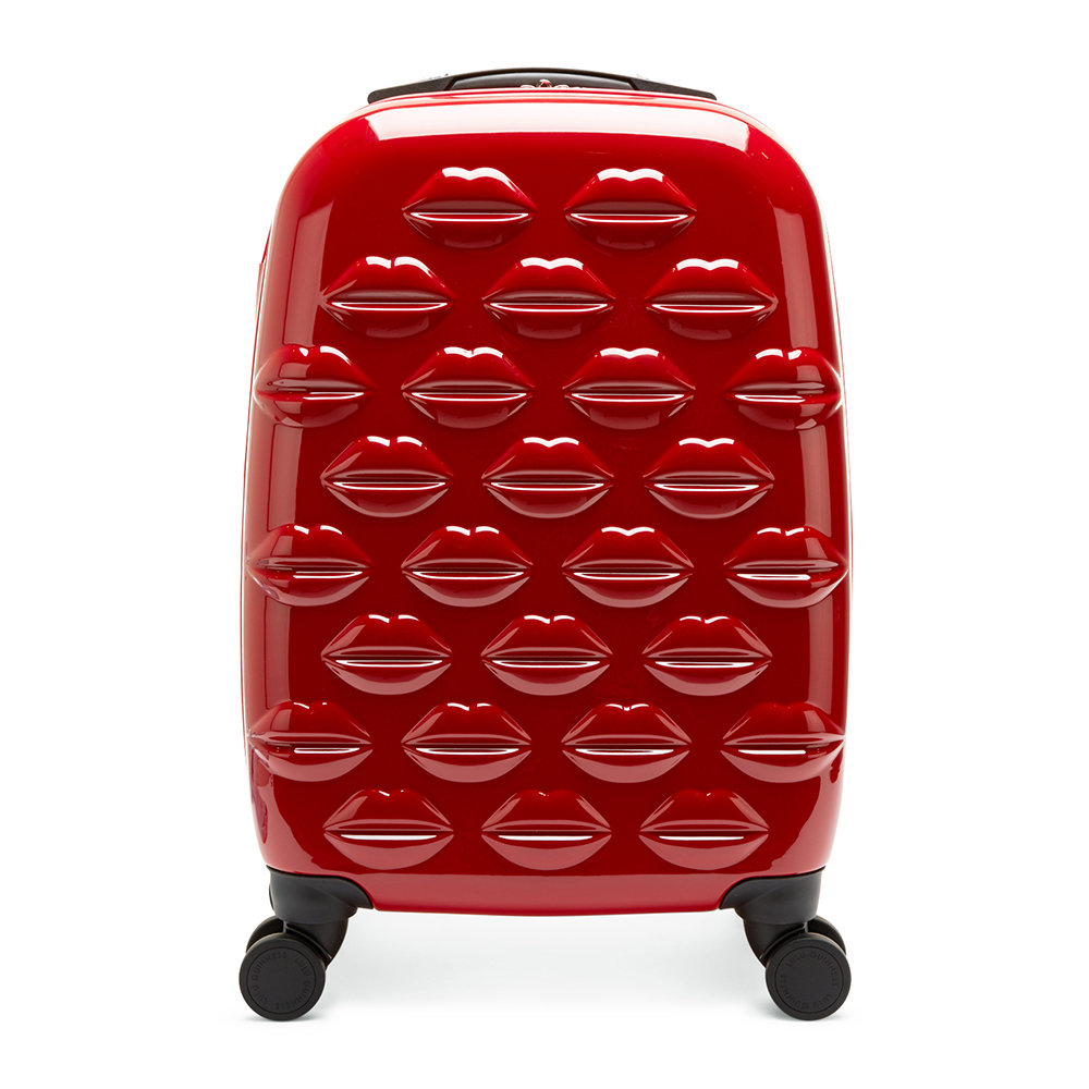 Lulu Guinness - Lips Trolley Suitcase - Red - Small