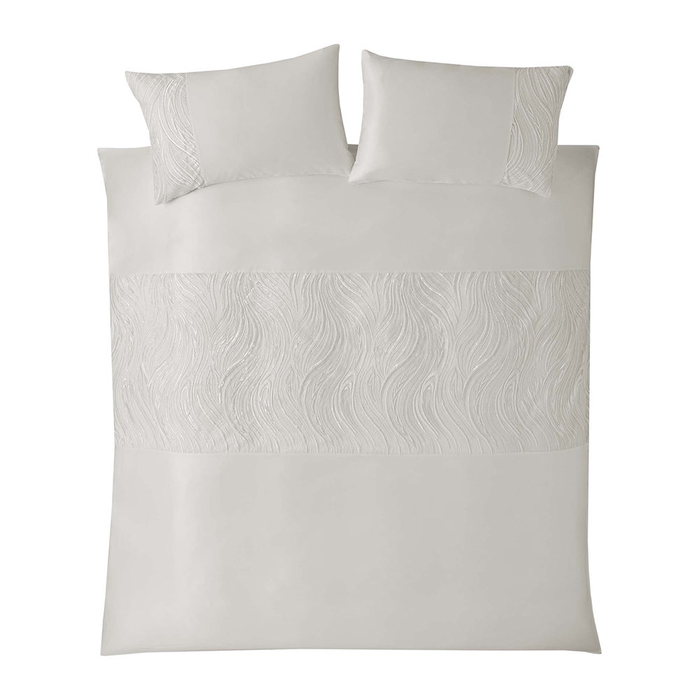Kylie Minogue at Home - Renata Duvet Cover - Oyster - Super King