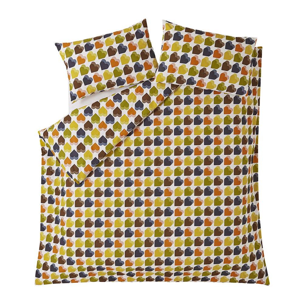 Orla Kiely - Love Hearts Duvet Cover - Multi - UK Single
