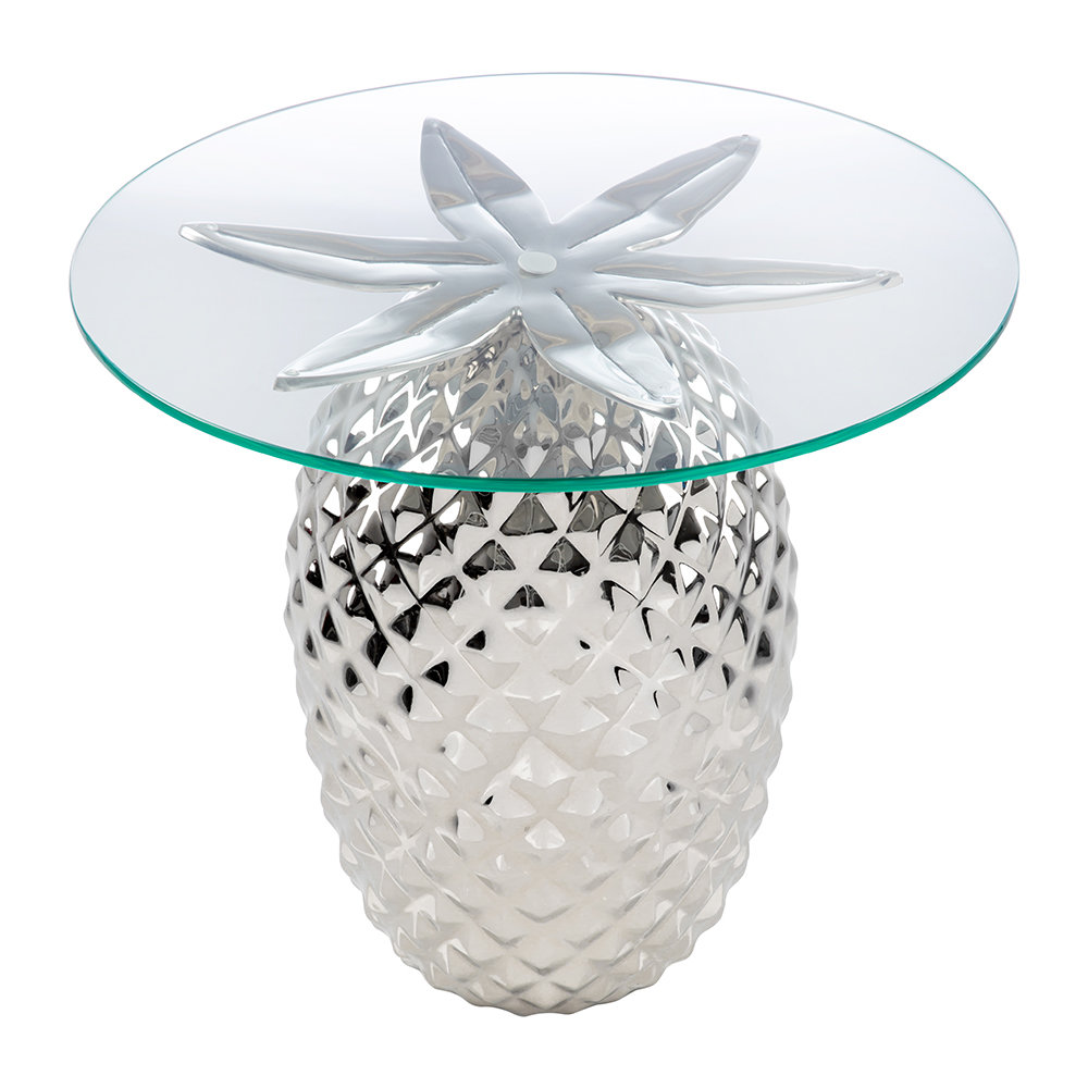 new product 31de7 6a498 Pineapple Side Table - Nickle