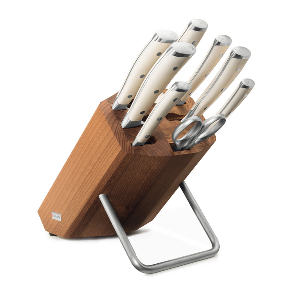 Wusthof Knives - Classic Ikon 9 Piece Knife Block - Natural/Cream