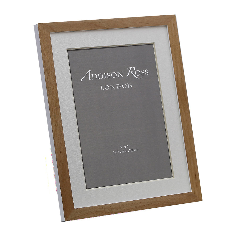Addison Ross - Alder Photo Frame - Natural/White - 5x7""