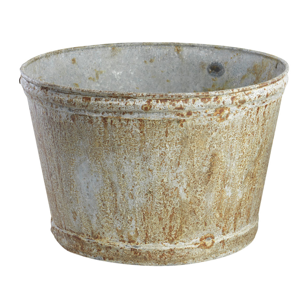 Nkuku - Abari Wide Zinc Plant Pot - Large