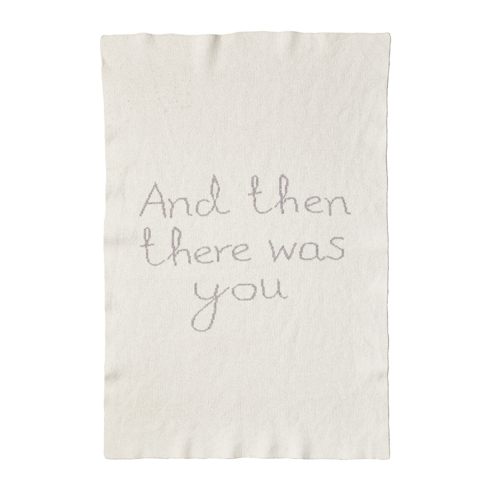 Donna Wilson - Then There Was You Mini Blanket - Grey