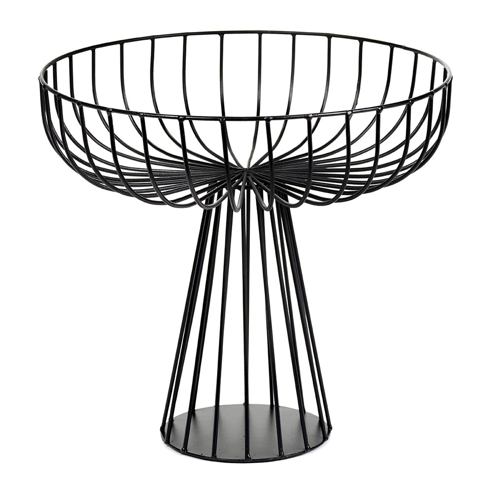Serax - Catu Raise Wire Basket - Black - 28cm